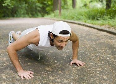 Man doing push-ups