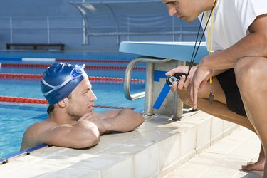Swimmer and coach