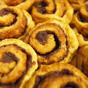 Close-up of cinnamon buns