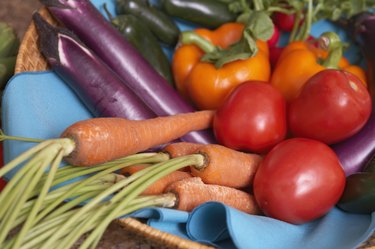 Close-up of an array of assorted vegetables