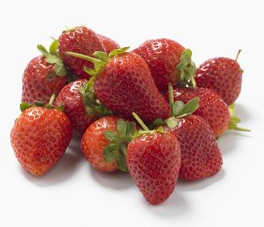 Strawberries, studio shot