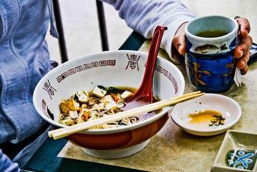 A big bowl of tofu