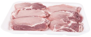 butchery: beef fillets in white tray