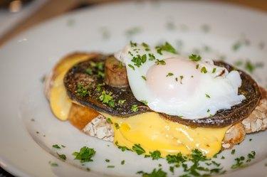 Mushroom Egg Benedict sandwich