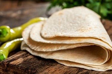 Whole wheat flour mexican tortillas