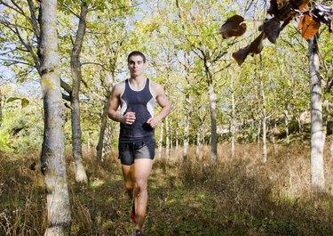 Runner in the trees