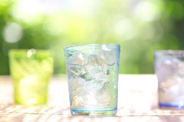 Glasses of water, close up, differential focus, Kanagawa prefecture, Japan