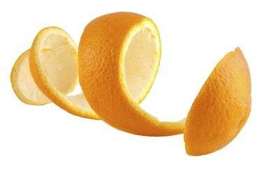 Orange peel against