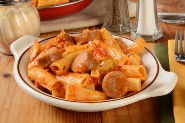 Rigatoni with sausage