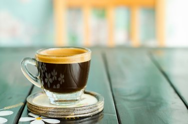 The cup of coffee