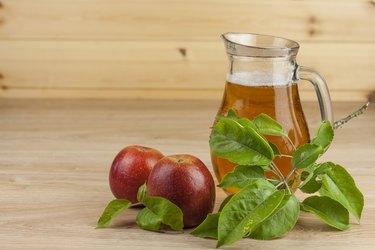 fresh apple juice, cool summer refreshment, diet drink with vitamins