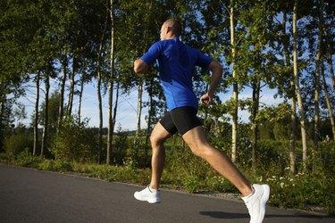 Man jogging in park