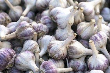 Garlic at a market