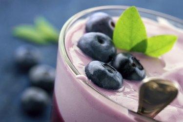 Healthy yogurt with berries