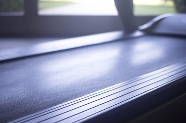 Running machine in sports health exercise club