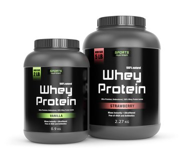 Vanilla and strawberry taste protein