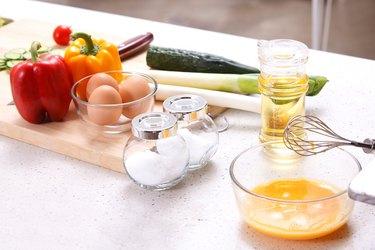 Food in kitchen