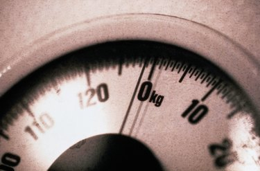 Close-up of a Metric Bathroom Scale