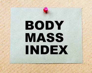Body Mass Index written on paper note
