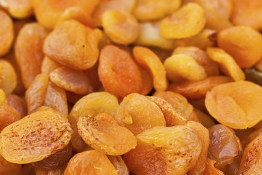 dried apricots background