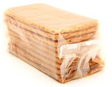 Bag of Graham Crackers Over White
