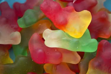 Gummy bear candy background