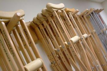 Rack of crutches.
