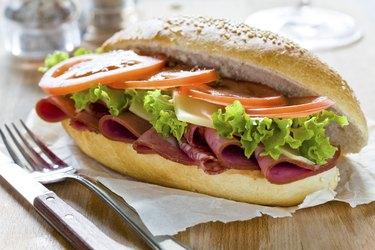 Tasty Mortadella Sandwich