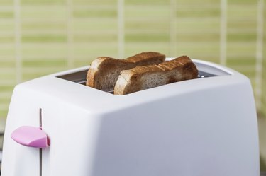 Toast and pink Toaster