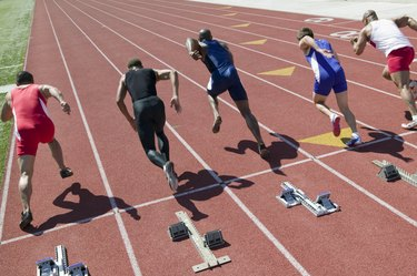 Athletes competing