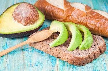 sliced avocado on toast bread