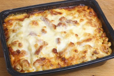 Baked Pasta Convenience or Ready Meal
