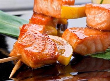 Salmon fried kebab