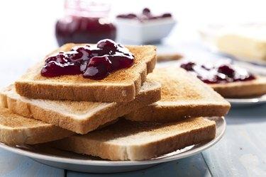 Breakfast with bread toast