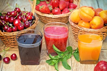 Healthy drinks - smoothie and juice