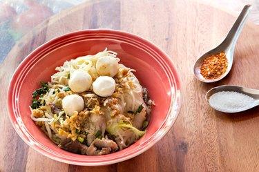 Pork noodle soup, Thai style