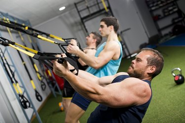 Real people training crossfit