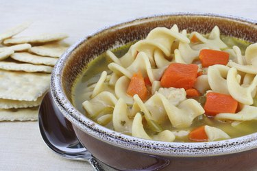 Hearty Chicken Noodle Soup with Carrots