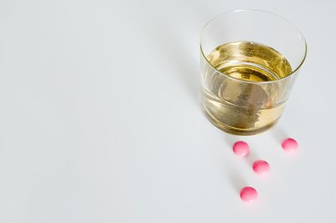 Whiskey and tablets