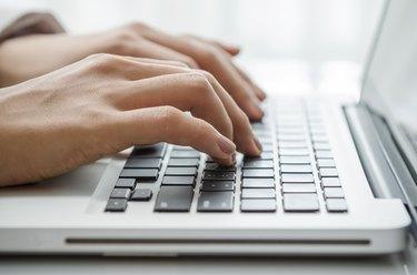 Closeup typing