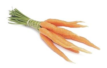 Carrot fresh vegetable isolated on white
