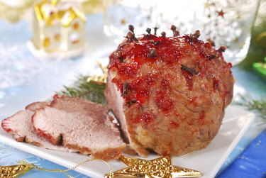 honey and plum glazed ham for christmas