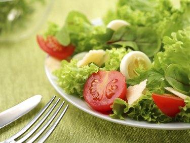 salad with eggs and tomatoes
