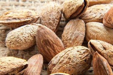 Almonds top views