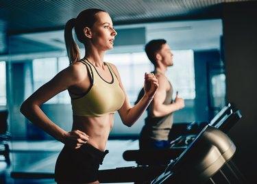 Workout on treadmill