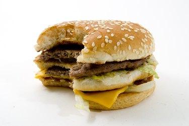 Hamburger and junk food