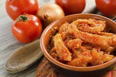 Trippa al pomodoro, italian cuisine