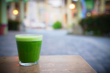 Matcha and light in the town