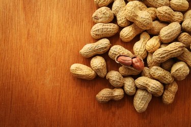 peanuts or groundnuts in shells