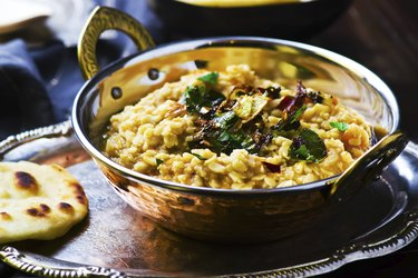 dhal with pumpkin. Indian cuisine.
